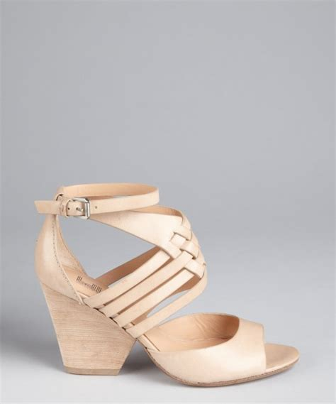 Siegerson Morrison 7069 Patent Peep Toe Wedges At Zappos Couture by Lyst By Sigerson Morrison Criss Cross Leather