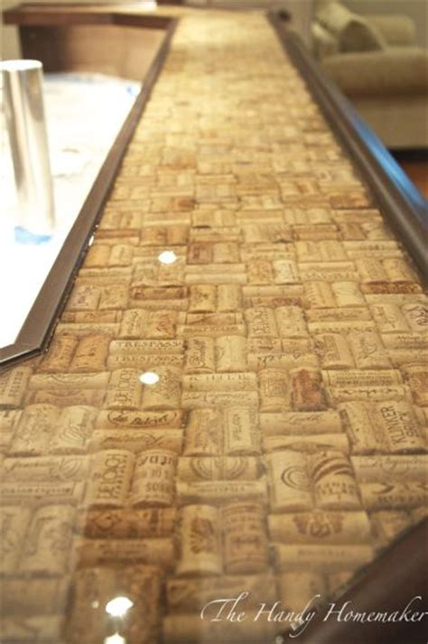 bar top corks epoxy countertop epoxy and corks on pinterest