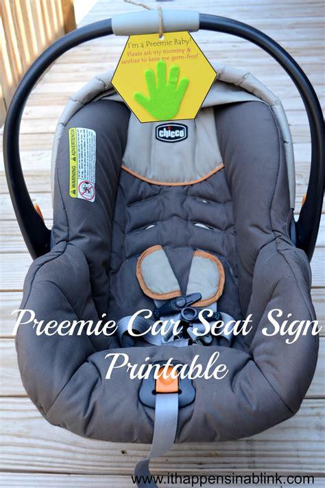 preemie car seat preemie car seat sign