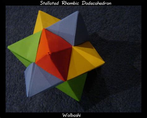 Rhombic Dodecahedron Origami - stellated rhombic dodecahedron by wolbashi on deviantart
