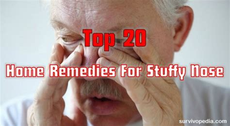 top 20 home remedies for stuffy nose survivopedia