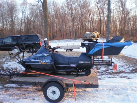 Snowmobile Rack For by Snowmobile Rear Rack Cargo Box Fishing Forum In