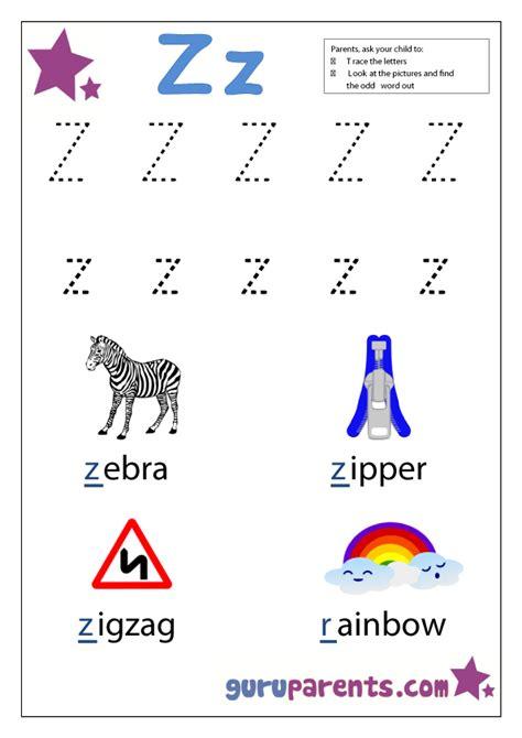letter z worksheet letter z worksheets guruparents
