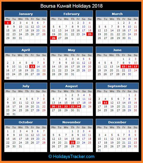 boursa kuwait holidays  holidays tracker