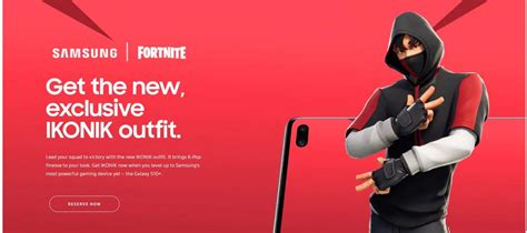 fortnite samsung galaxy  ikonic skin