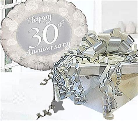 Pearl Wedding Happy 30th Anniversary Helium Balloon in a