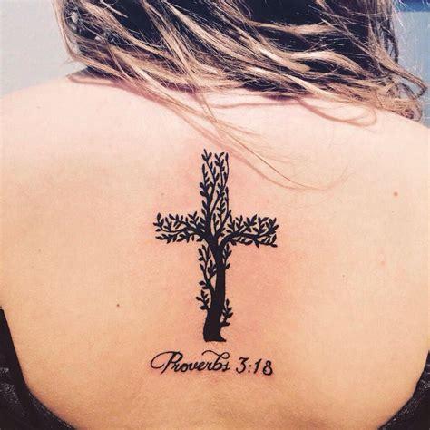 christian tattoo tree cross tree tattoos pinterest trees psalms and crosses