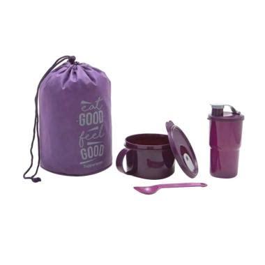 Kotak Donatkotak Kuekotak Bekal Hawaii jual tupperware blush set kotak bekal kecil dan botol minum ungu harga kualitas