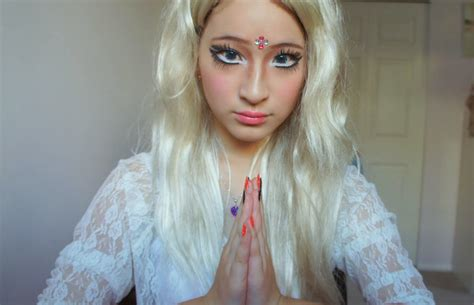tutorial makeup valeria lukyanova valeria lukyanova russian space barbie makeup look by