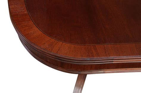 2 Pedestal Dining Table Formal Pedestal Mahogany Dining Table With 2 Leaves And American Finish Ebay