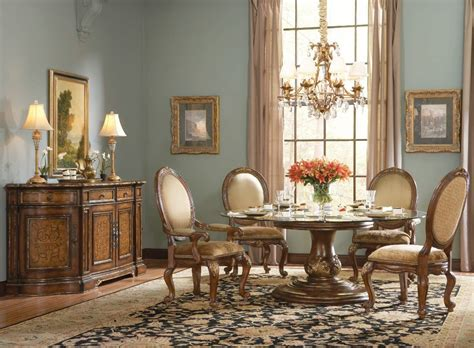 hooker dining room table hooker furniture beladora 72 quot round glass top table set