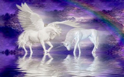 unicorn cloud unicorns horse cloud rainbow fantasy wallpaper for your computer wallpapers13 com