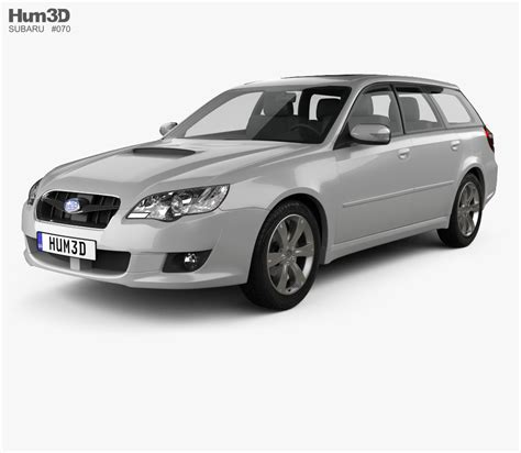 subaru station wagon subaru legacy station wagon 2008 3d model hum3d