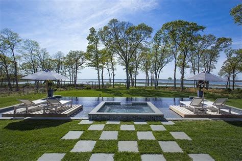 infinity pool backyard 16 9 million dollar hamptons traditional estate see