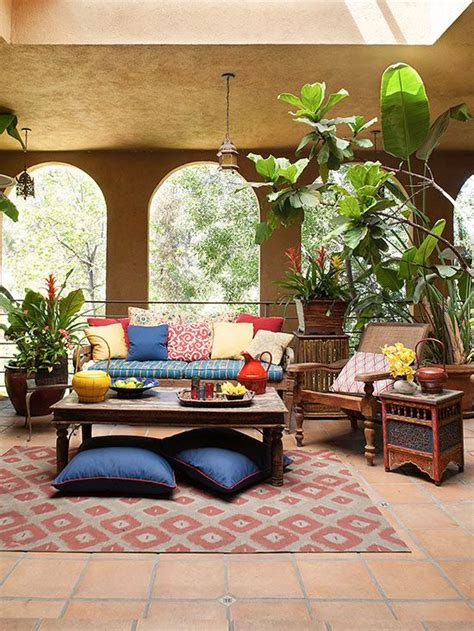 eclectic furniture and decor for a calm relaxed vibe embellish your outdoor space with
