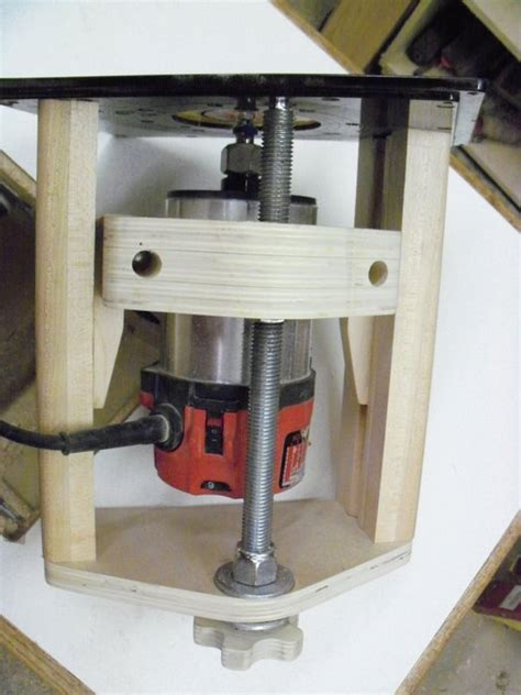 shop built router lift  peter oxley  lumberjockscom