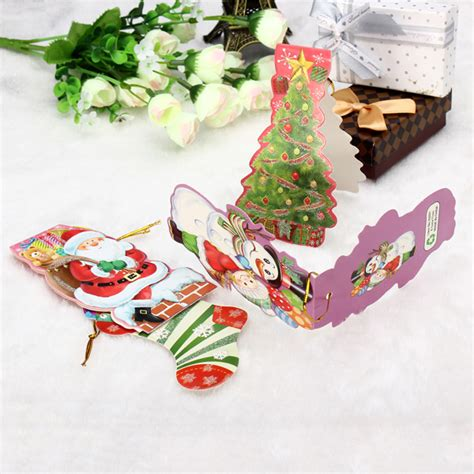 Gift Card Accessories - mini gift card with hang strap christmas tree diy accessories gift tag alex nld