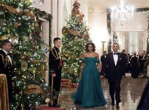 barack michelle obama from holiday decorating with the