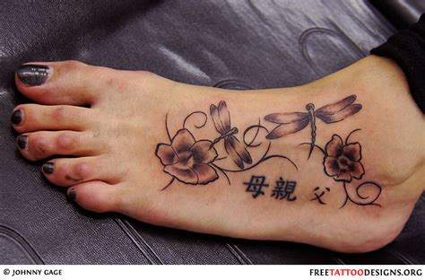 ankle foot tattoo designs foot gallery