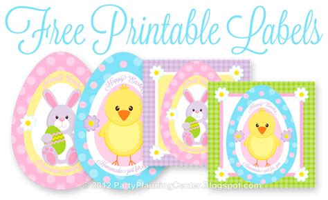 printable easter labels party planning center free printable easter treats recipe