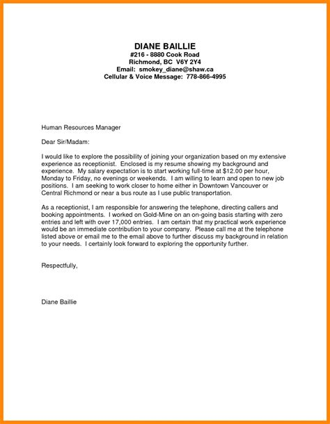 cover letter sles for resume cover letter truck driver no experience 28 images