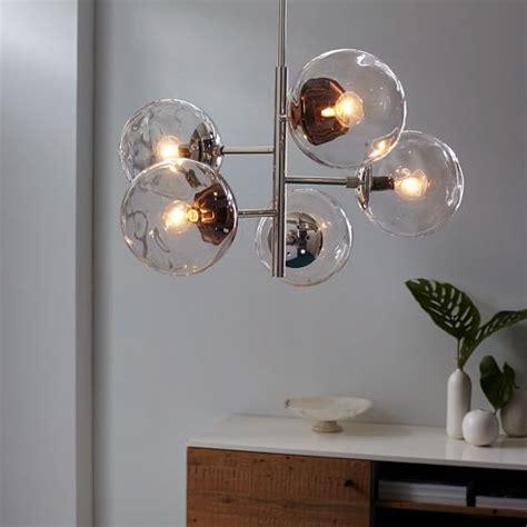 Blown Glass Chandelier Asymmetrical West Elm West Elm Ceiling Light