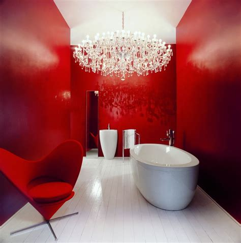 magical bathroom designs  red accents