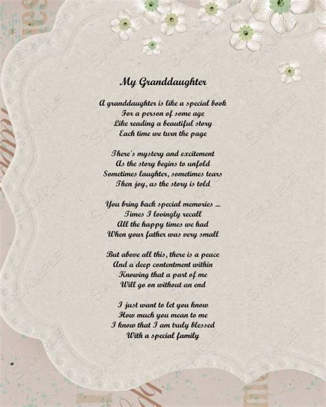 Wedding Blessing From Grandparents by Granddaughter Qoutes And Poems Granddaughter Poem