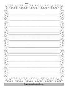 Free Writing Paper With Borders 8 Best Images Of Printable Christmas Lined Paper With