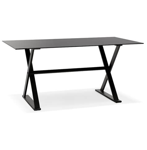 bureau table en verre table design en verre noir bureau moderne 160x80 cm