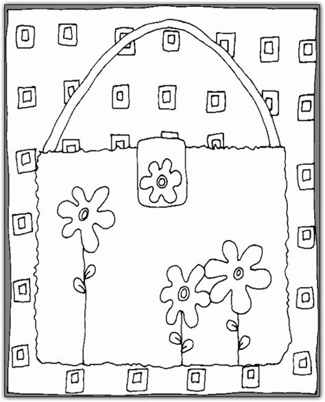 purse coloring pages coloringpagesabc com