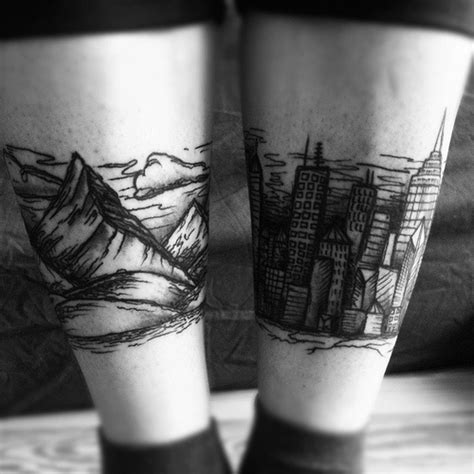 city tattoo drawings