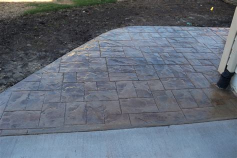 Patio With Concrete Pavers Outdoor Captivating Sted Concrete Vs Pavers For Modern Outdoor Design With Concrete Vs