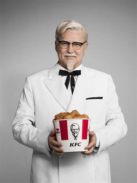 biography of kfc owner norm macdonald takes over as kfc s colonel sanders ny