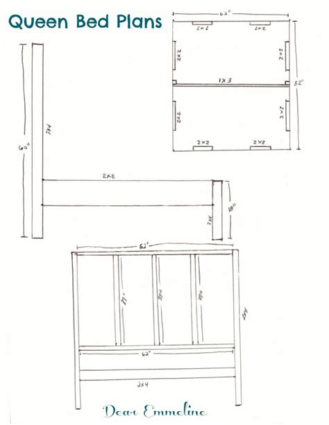 building queen size bed headboard and dimensions