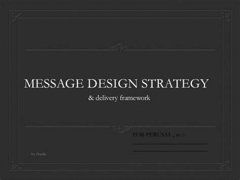 layout strategy slideshare message design strategy advertising management