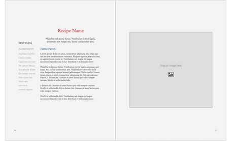 ebook cookbook template book ebook templates professional easy to use blurb