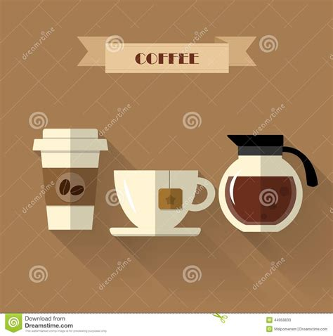 coffee shop flat design coffee flat design stock vector illustration of coffee