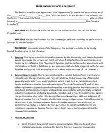 professional contract template service agreement template 10 free word pdf documents