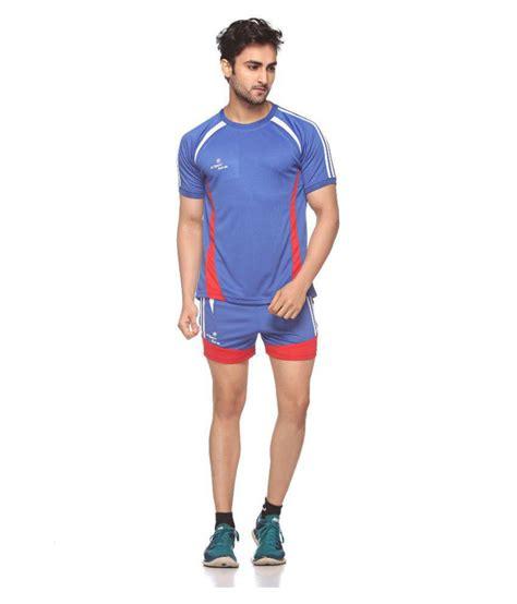 kabaddi t shirt pattern sport sun blue polyester t shirt and shorts buy sport