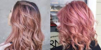 gold hair dye hair rose gold hair is the latest hair color trend to try