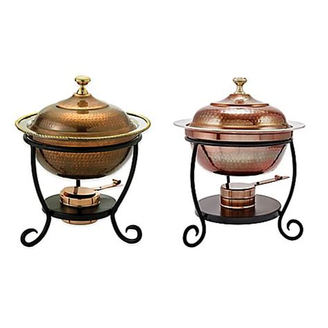 chafing dish bed bath and beyond old dutch international round chafing dish in antique