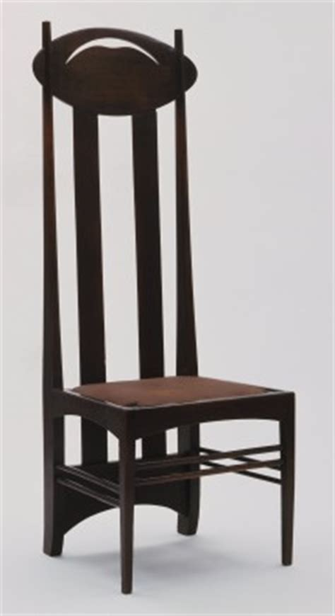 High Backed Chair Moma Charles Rennie Mackintosh Side Chair 1897
