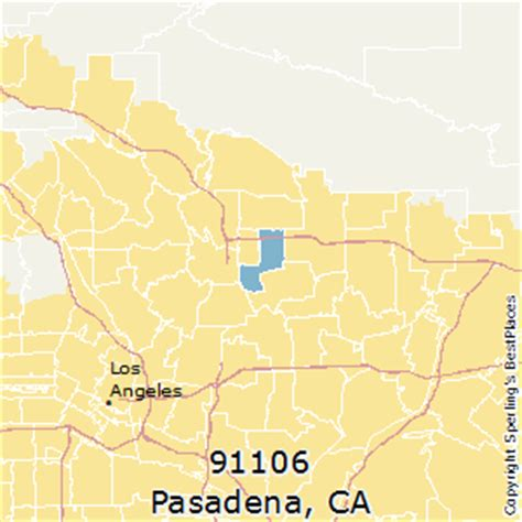zip code map pasadena ca best places to live in pasadena zip 91106 california