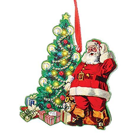 new kurt adler wooden vintage santa scenes christmas
