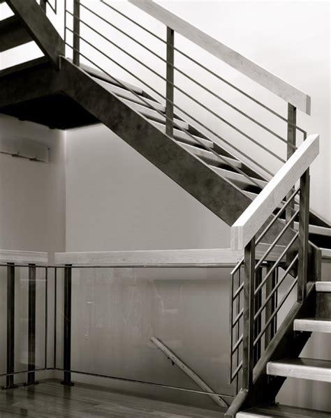 Interior Stair Railings Metal Wood Steel Interior Railing Modern Staircase