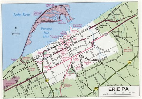 printable map erie pa erie pa road map