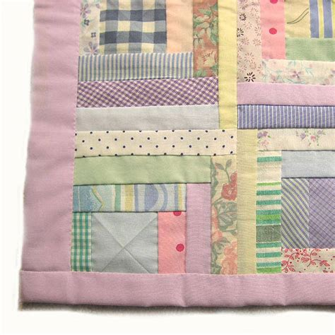 Patchwork Cot Bedding - handmade patchwork quilt for cots by tigerlily jewellery