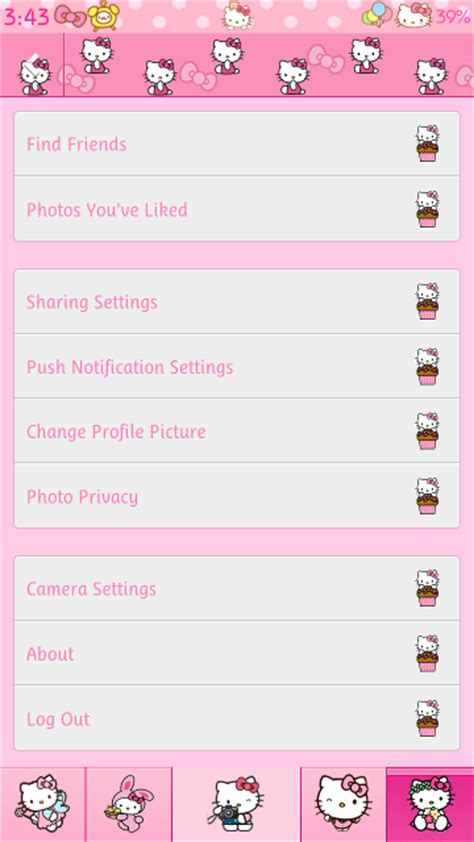 hello kitty themes in facebook pretty droid themes hello kitty pink instagram theme for