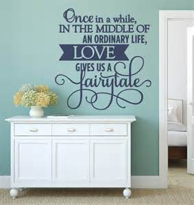 Words Wall Stickers bedroom wall decals fairytale bedroom wall decal